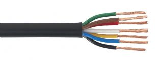 Sealey AC24207CTH Automotive Cable Thin Wall 7 x 0.75mm² 24/0.20mm 30mtr Black